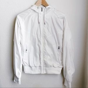 Nike | White Bomber Jacket